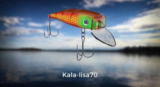 Lohivaappu Kala-Iisa70 värikartaston kansikuva. Klikkaamalla verkkokauppakuvastoon.